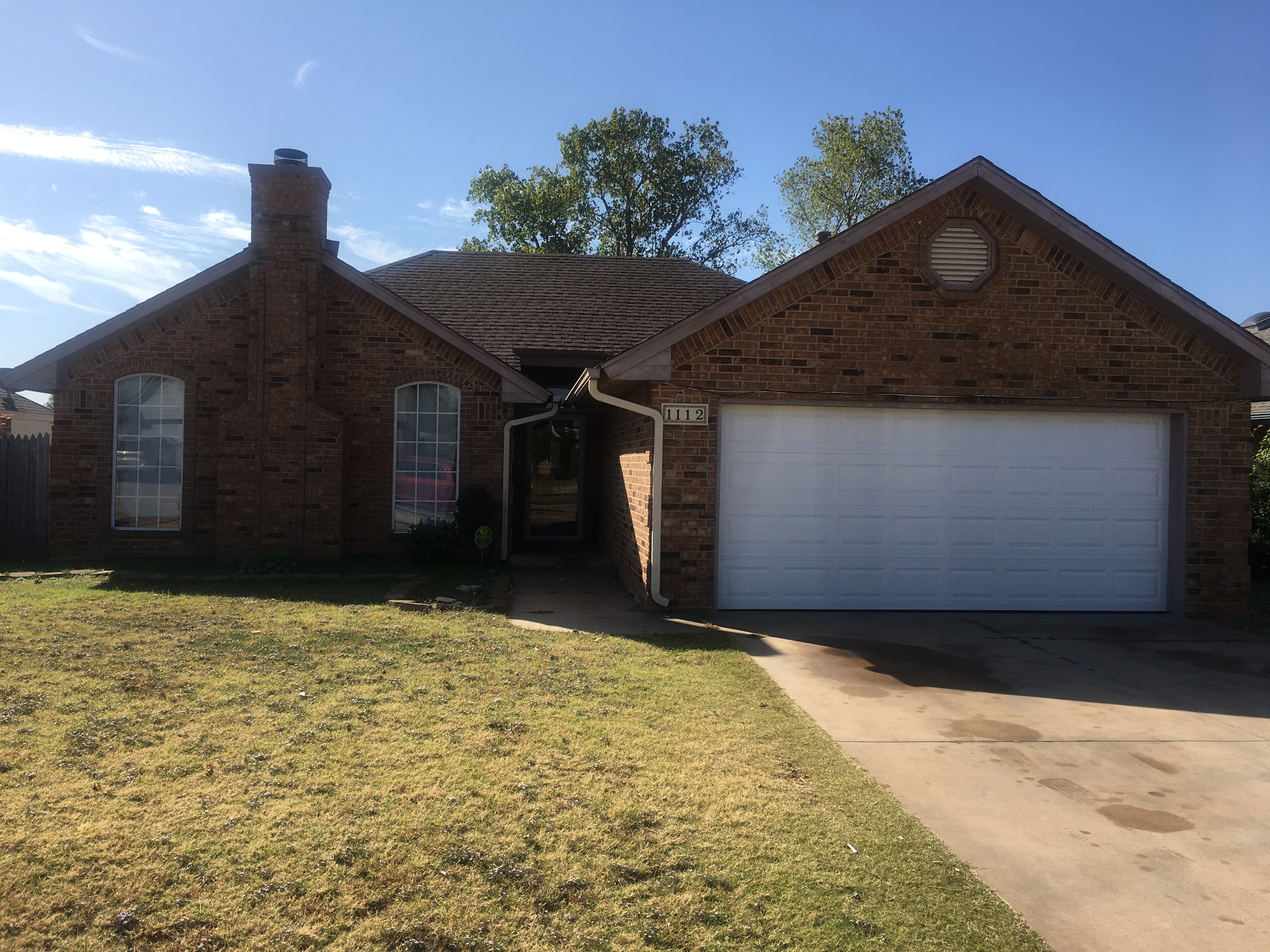 For Rent: 1112 N.E. 25th Street, Moore, Oklahoma